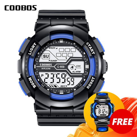 Trend Men's Sports Digital Watch Military Waterproof Mens Watches  LED Luminous WristWatch Male Casual Rubber Clock reloj hombre
