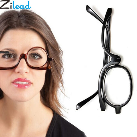 Zilead Magnifying Glasses Rotating Makeup Reading Glasses Folding Eyeglasses Cosmetic General +1.0 +1.5 +2.0+2.5+3.0+3.5+4.0