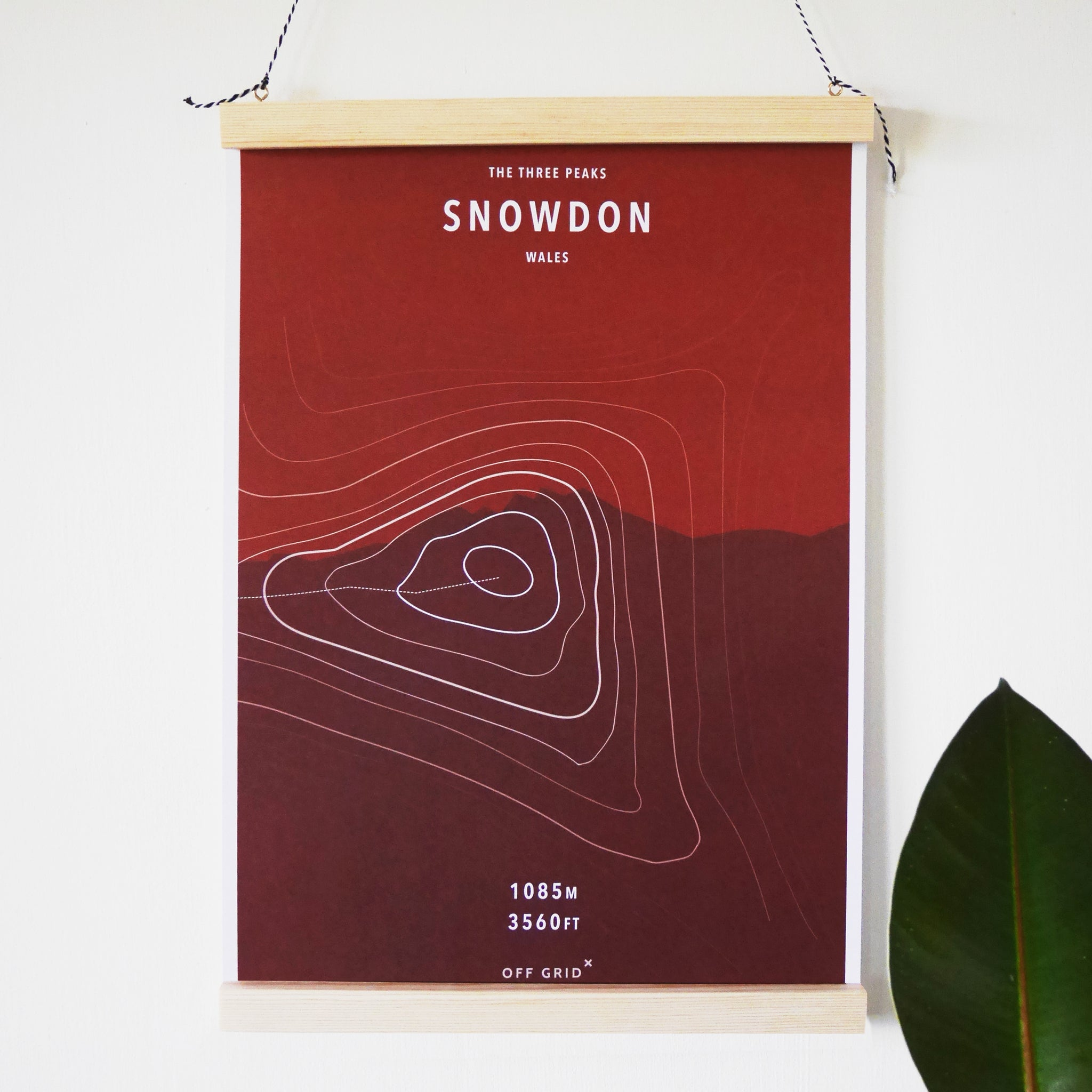snowdon mountain print recycled paper