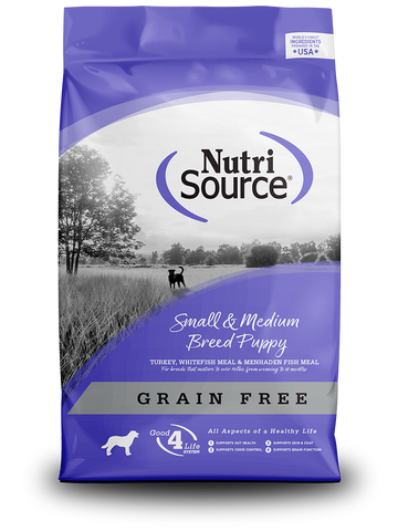 NutriSource Small/Medium Grain Free Puppy - 30lb.