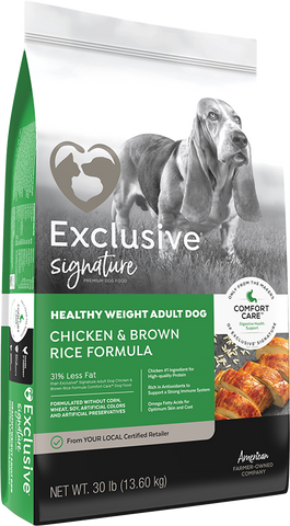 Exclusive Healthy Weight Adult Dog 30lb