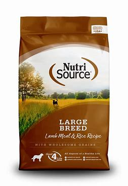 NutriSource Large Breed Lamb Meal & Rice Formula 30lb