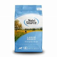 NutriSource Large Breed Trout & Rice 30lb