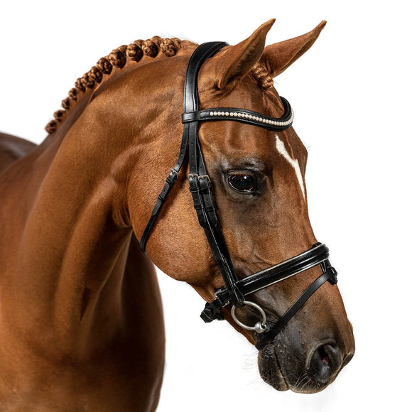 BLACK SNAFFLE BRIDLE 'Maya'