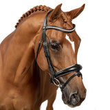 Black Snaffle Bridle 'Angelika' - Flexible Fit Equestrian LLC