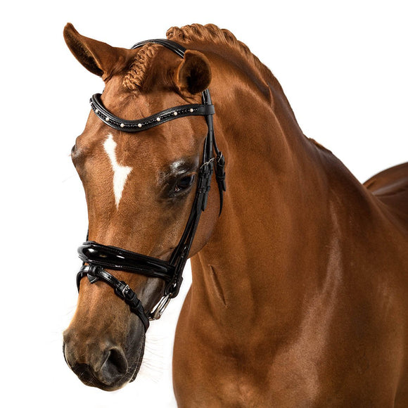 BLACK SNAFFLE BRIDLE 'Diamonique'