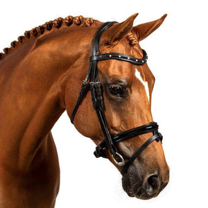 BLACK SNAFFLE BRIDLE 'Nova' - Flexible Fit Equestrian LLC