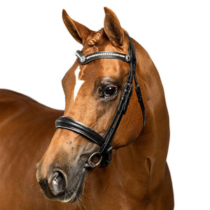 Black Snaffle Bridle 'Molly' - Flexible Fit Equestrian LLC