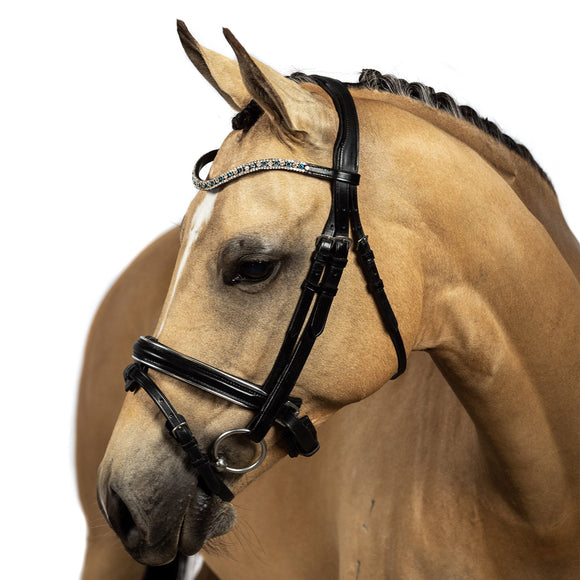 Black Snaffle Bridle 'Everly'