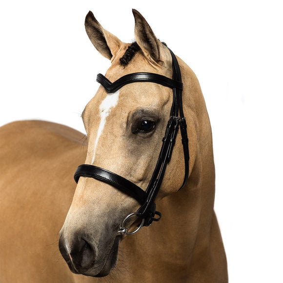 Black Snaffle Bridle 'Riley' - Flexible Fit Equestrian LLC