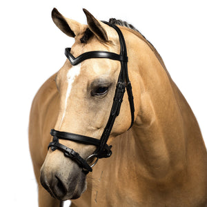 Black Snaffle Bridle 'Harper' - Flexible Fit Equestrian LLC