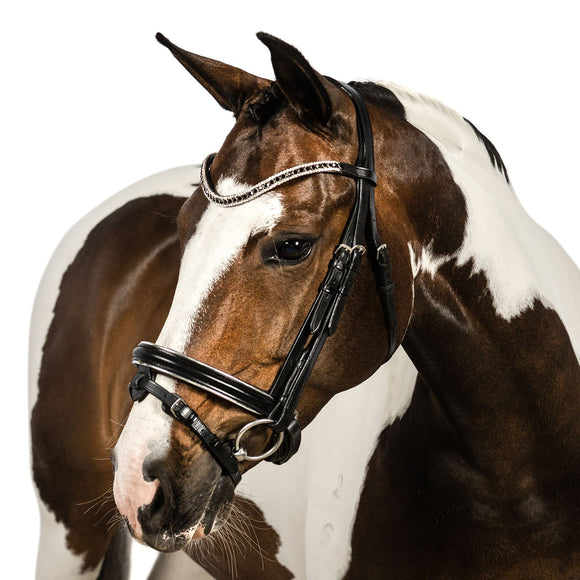 Black Snaffle Bridle 'Audrey' - Flexible Fit Equestrian LLC