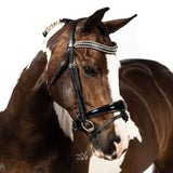 Black Snaffle Bridle 'Presley' - Flexible Fit Equestrian LLC