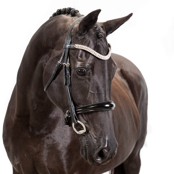 Black Snaffle Bridle 'Couture' - Flexible Fit Equestrian LLC