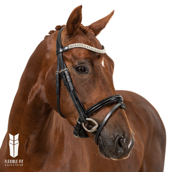 Black Snaffle Bridle 'Ava'