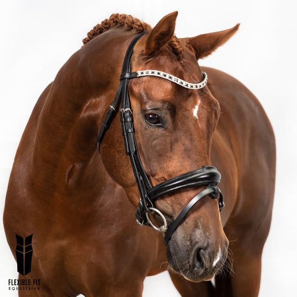 Black Snaffle Bridle 'Maisie'