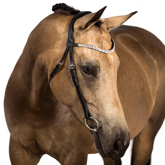 BLACK PREMIUM NOSEBANDLESS BRIDLE $134.85-$249.80 - Flexible Fit Equestrian LLC