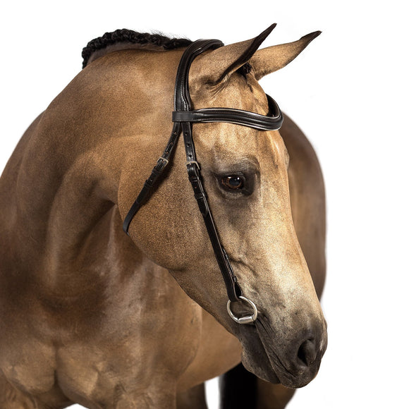 Havana Nosebandless Snaffle Bridle 'Teanna' - Flexible Fit Equestrian LLC