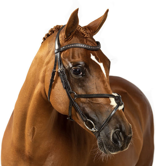 HAVANA SNAFFLE BRIDLE 'Elise' - Flexible Fit Equestrian LLC