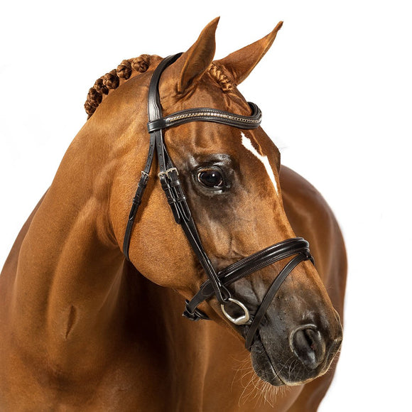 HAVANA PREMIUM CUSTOM SNAFFLE BRIDLE $194.80-$339.75 - Flexible Fit Equestrian LLC