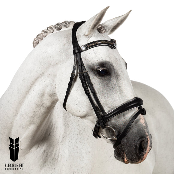 Black Snaffle Bridle 'Aria'