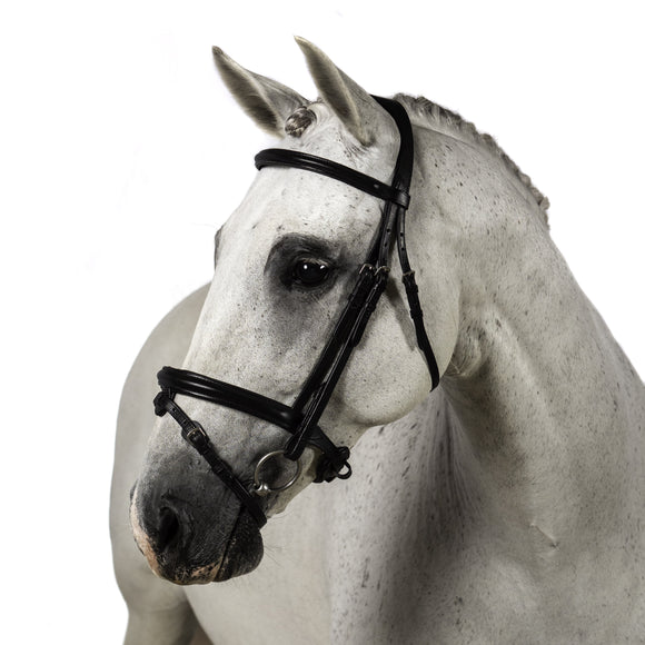 BLACK SNAFFLE BRIDLE 'Plain Beauty' - Flexible Fit Equestrian LLC
