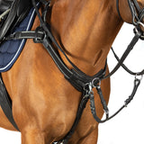 5 POINT BREASTPLATE - BLACK WITH BLACK AND SILVER ELASTIC