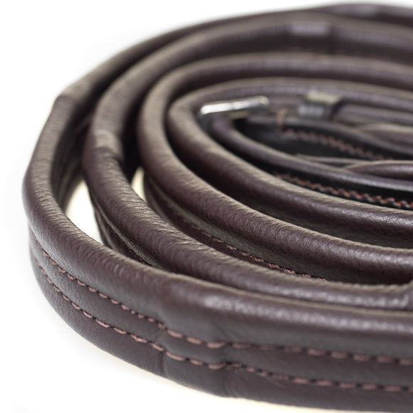 PADDED LEATHER 6/8 WIDE HAVANA REINS