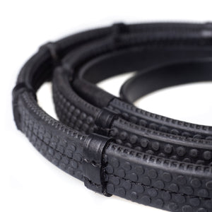 RUBBER GRIP BLACK REINS