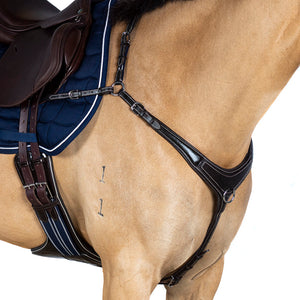 AR 3 POINT BRIDGE - HAVANA BREASTPLATE - Flexible Fit Equestrian LLC