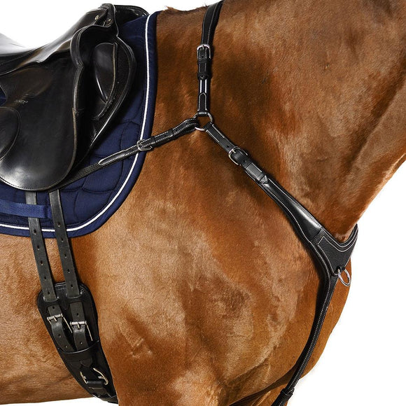 AR 3 POINT BRIDGE - BLACK BREASTPLATE - Flexible Fit Equestrian LLC