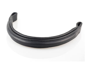PLAIN RAISED PADDED - BLACK BROWBAND