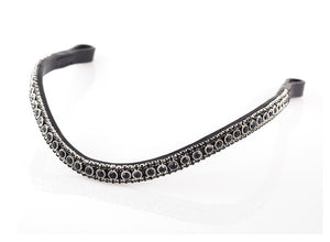 BLACK THIN CRYSTAL WAVE - BLACK BROWBAND