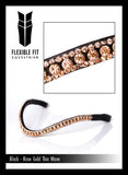 ROSE GOLD THIN CRYSTAL WAVE - BLACK BROWBAND