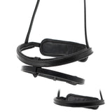 STRAIGHT FLAT THIN CAVESSON CONVERTER - BLACK NOSEBAND