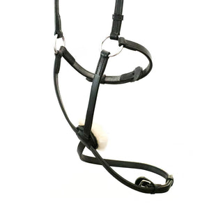 FIGURE 8 WITH SHEEPSKIN - BLACK NOSEBAND - Flexible Fit Equestrian LLC