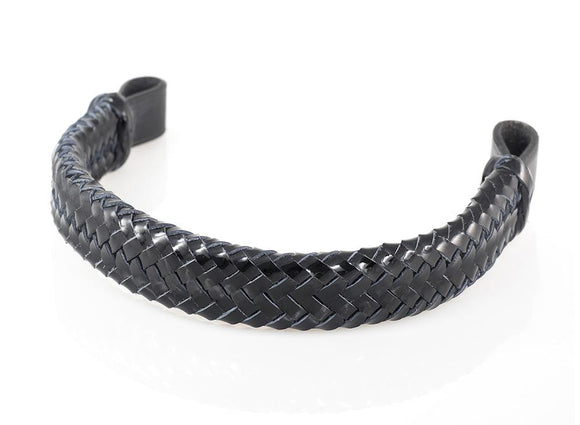 PATENT PLAITED - BLACK BROWBAND - Flexible Fit Equestrian LLC