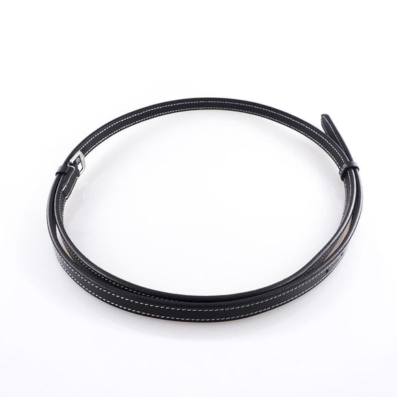 Neck Strap - Black with White Stitching