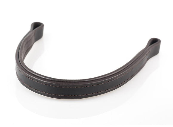 PLAIN FLAT - HAVANA BROWBAND - Flexible Fit Equestrian LLC