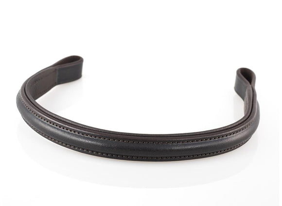 PLAIN RAISED - HAVANA BROWBAND - Flexible Fit Equestrian LLC