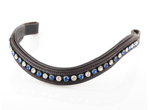 SAPPHIRE AND CLEAR MID THIN WAVE - HAVANA BROWBAND