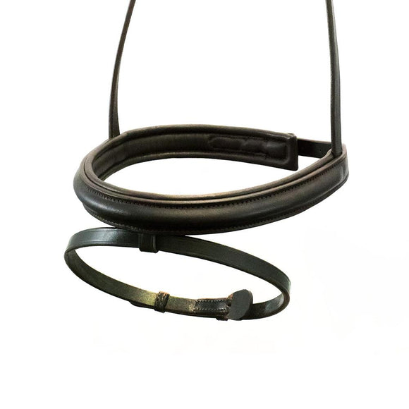 STRAIGHT RAISED PLAIN CAVESSON HANOVERIAN- HAVANA NOSEBAND - Flexible Fit Equestrian LLC