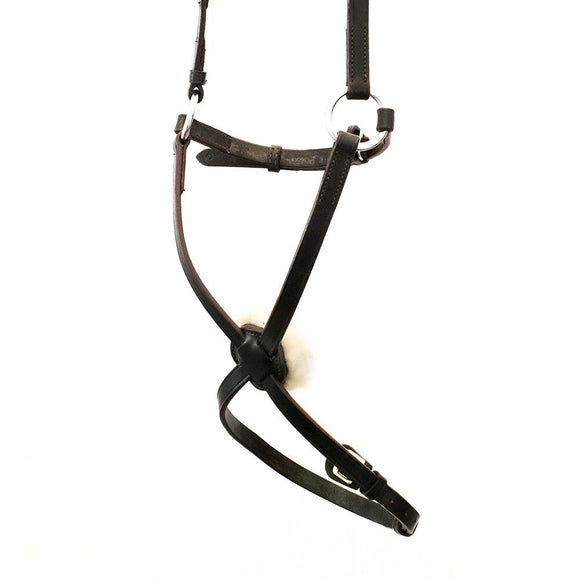 FIGURE 8 WITH SHEEPSKIN- HAVANA NOSEBAND - Flexible Fit Equestrian LLC