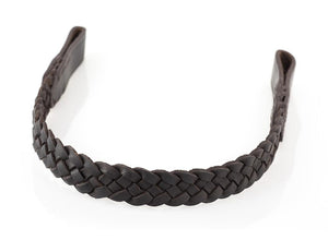CRISS CROSS PLAIT - HAVANA BROWBAND - Flexible Fit Equestrian LLC