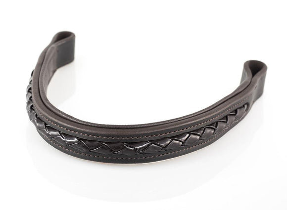 PATENT ROPE BRAID - HAVANA BROWBAND - Flexible Fit Equestrian LLC