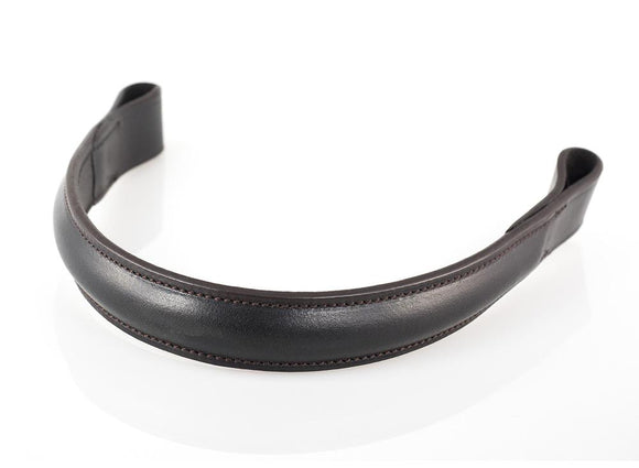 PLAIN RAISED - HAVANA BROWBAND