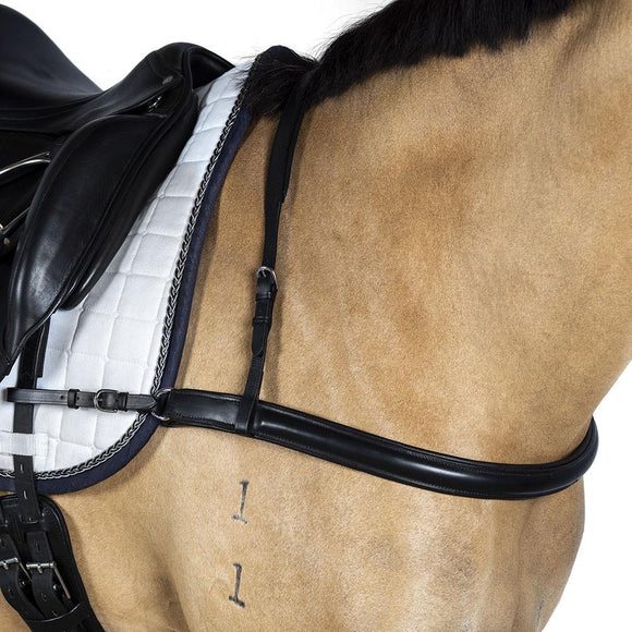 DRESSAGE BLACK STRAIGHT BREASTPLATE - Flexible Fit Equestrian LLC