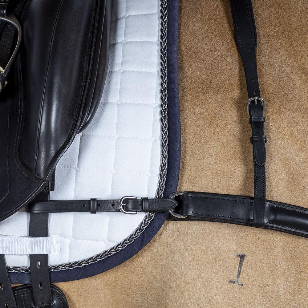 Dressage Black Straight Breastplate Flexible Fit Equestrian Llc