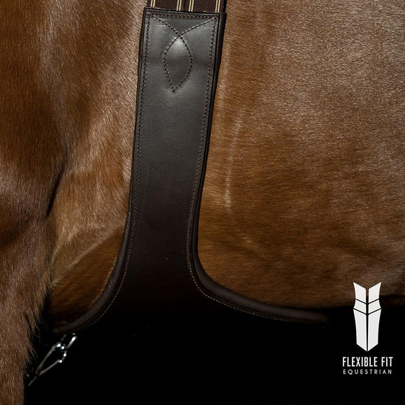 LONG GEL PADDED STUD GIRTH - HAVANA - Flexible Fit Equestrian LLC