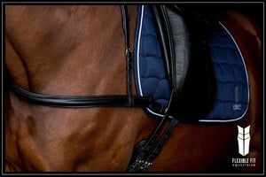DRESSAGE BLACK STRAIGHT BREASTPLATE